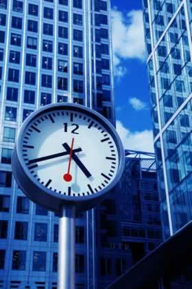 Blue High Rise Clock